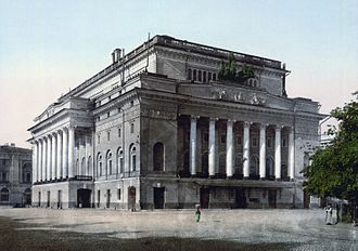 Carlo Rossi (architect) - Alexandrine Theatre in Saint Petersburg.