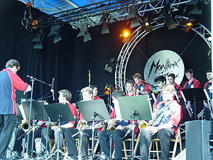 Montreux Jazz Festival - Australian Youth All Star Big Band performing at the Montreux Jazz Festival in 2004.