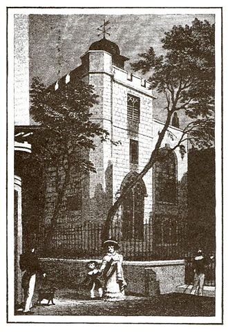 Francis Stainforth - An old engraving of All Hallows Staining where Stainforth and fellow philatelists used to meet.