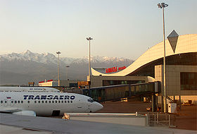 Aéroport international d'Almaty.