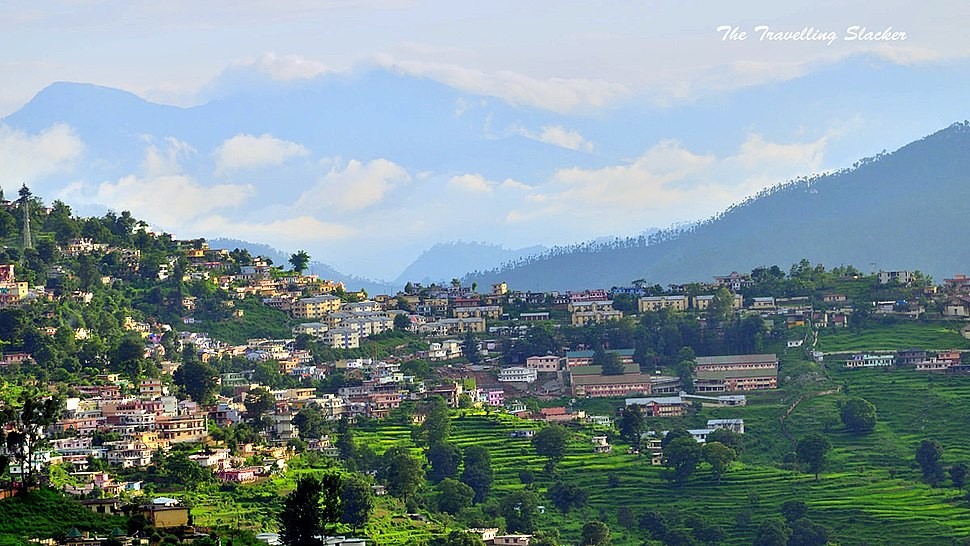 View of Almora City in 2013