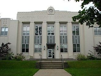 Alpena, Michigan - Alpena County Courthouse in Alpena