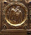 Altare di s. ambrogio, 824-859 ca., retro di vuolvino, arcangeli e scene di omaggio 05 Ambrogio che incorona Angilberto.jpg