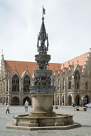 The Braunschweig old town market fountain