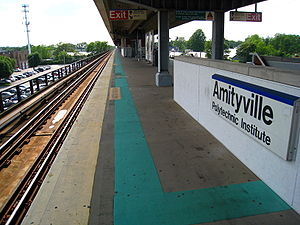 Amityville (LIRR station) - South platform at Amityville Station