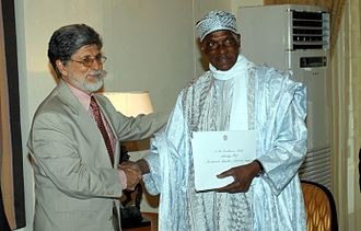 Abdoulaye Wade - Wade and the Brazilian Foreign Minister Celso Amorim, in 2005.