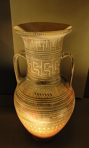 Amphora - Large late Geometric Attic amphora, c. 725–700 BC