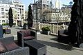 Amsterdam, Stadsschouwburg Ajaxterras, zicht op Leidseplein.JPG