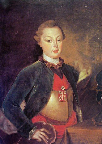 John VI of Portugal - The Infante John, Lord of the Infantado, Infante of Portugal, c. 1785.