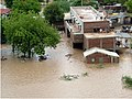 An aerial view taken from the IAF relief Helicopter of the flood-affected areas in Gujarat on July 3, 2005.jpg