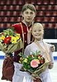 Anastasia Martiusheva & Alexei Rogonov Podium 2009 Junior Worlds.jpg
