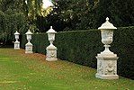 Four urns, at Rose Garden, at Anglesey Abbey