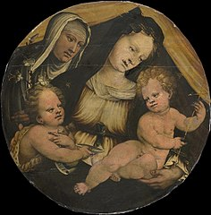 Madonna and Child with the Infant John the Baptist and St Clara