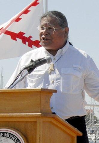 Kumeyaay - Anthony Pico, chairman of the Viejas Band of Kumeyaay