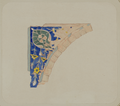 Antiquities of Samarkand. Tomb of the Saint Kusam-ibn-Abbas (Shah-i Zindah) and Adjacent Mausoleums. Mausoleum of the Aine Khane (Emir Mussa). Detail of Corner above a Window on the Northern Facade WDL3902.png