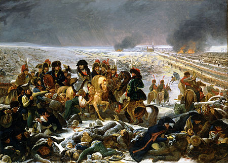 Napoleon on the Battlefield of Eylau in February 1807 Antoine-Jean Gros - Napoleon on the Battlefield of Eylau - Google Art Project.jpg