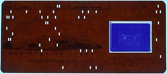Microform - Aperture card with hollerith info