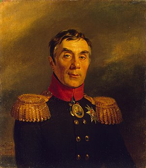 Aleksey Arakcheyev - Portrait of Arakcheyev from the Military Gallery of the Winter Palace, by George Dawe.