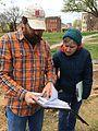 Archaeologist Greg Katz and Lesley Gardiner, Patterson Park (16149217688).jpg