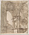 Architectural Study (recto); Separate Sheet with Architectural Drawing (verso) MET DP810414.jpg