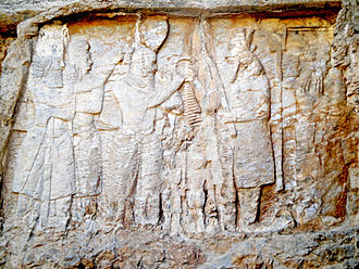 Ardashir I - Ardashir I is receiving the Kingship's ring from Ahuramazda at Naqsh-e Rajab.