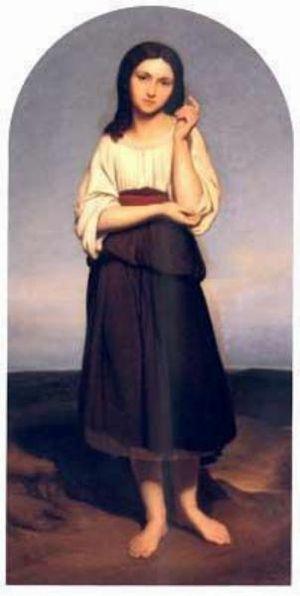 Mignon - Mignon verlangende naar haar vaderland, by Ary Scheffer, 1836 (Dordrechts Museum)
