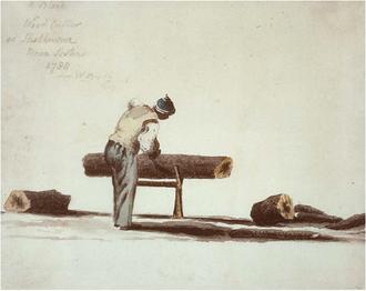 Black Loyalist - A Black Loyalist wood cutter, at Shelburne, Nova Scotia, in 1788