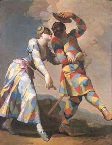 Arlecchino und Colombina - Giovanni Domenico Ferretti