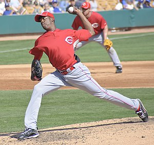 Aroldis Chapman - Chapman pitching for the Cincinnati Reds in 2010 spring training