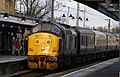 Arriving at Ely, a 1960s veteran diesel with a railtour from Crewe. - panoramio.jpg