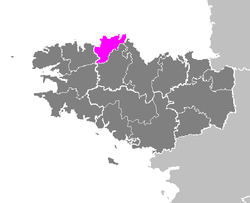 Location of Lannion in Bretagne