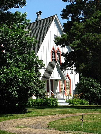 National Register of Historic Places listings in Union County, Oregon - Image: Ascension Episcopal Rectory entrance Cove Oregon