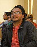 Ashiq Shawon at Wikipedia 15 celebration (cropped).jpg