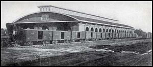 Atlanta Union Station (1853) - First Atlanta Union Station before its destruction in 1864