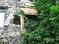 Auchans Castle fireplace on East gable.JPG