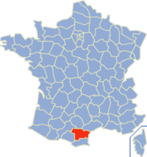 Communes of the Aude department - Location of the Aude département within France
