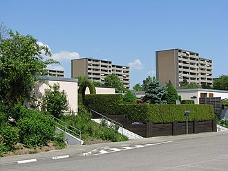 Rheinfelden - Apartment towers in Augarten, part of Rheinfelden