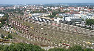Augsburg Hauptbahnhof - The station from the south