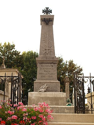 Aussonce - The War Memorial