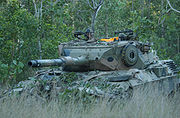 Australian Leopard AS1 tank forest
