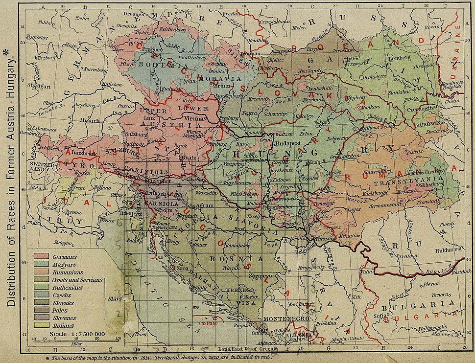 Austria hungary 1911 and post war borders