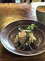 Avocado egg sandwich and coffee (30358520737).jpg