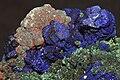 Azurite et malachite sur cuivre (Maroc).jpg
