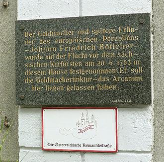 Johann Friedrich Böttger - Böttger was detained in Enns (Upper-Austria) in June 1703