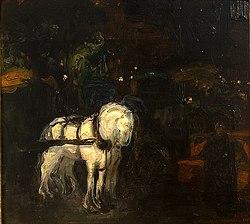 Hermenegildo Anglada Camarasa: Night-Effect Study of horses