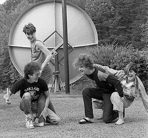 The Big Shot Chronicles - Game Theory, 1985, during break from touring to record The Big Shot Chronicles in Winston-Salem. L-R: Ray, LaFreniere, Miller, Ziegler.
