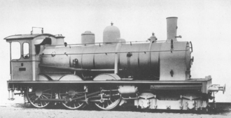 Compound locomotive - Typical early de Glehn's locomotive (Baden IV e of 1894), with high-pressure cylinders placed behind a front bogie, and driving the second set of wheels.