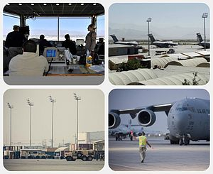 Bagram Airfield - Image: Bagram collage