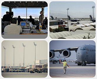Bagram Airfield - Image: Bagram collage
