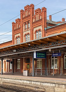 Stendal station railway station in Stendal, Germany